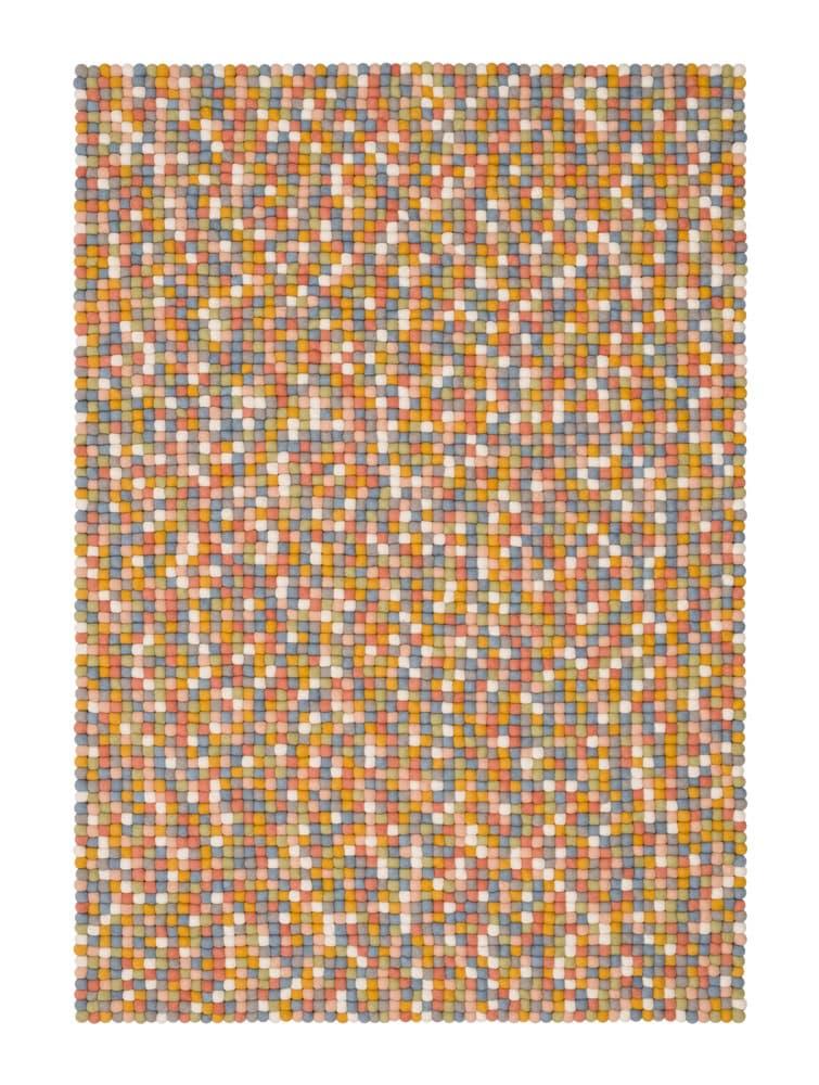 Alfombra colores rectangular multicolor claro grande