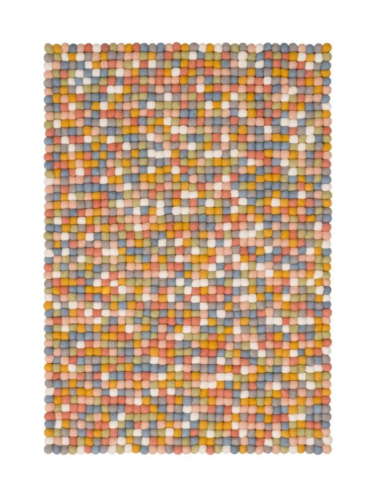 Alfombra colores rectangular multicolor claro pequeña