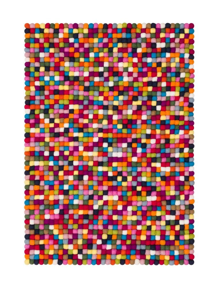 Alfombra colores rectangular multicolor pequeña