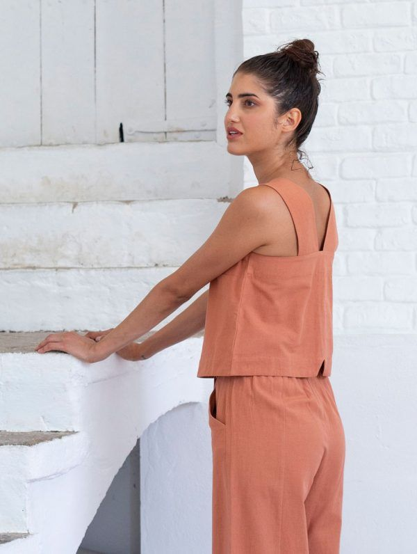 Blusa sin mangas ecológica mujer