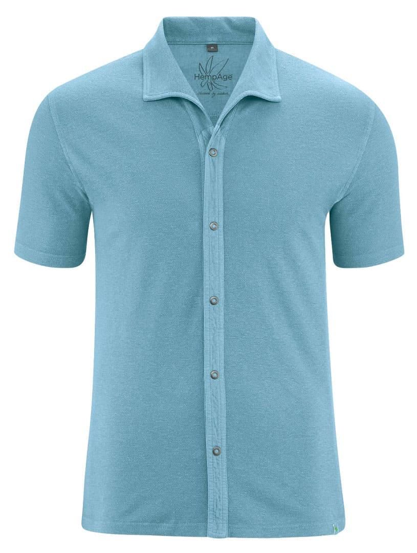 Camisa verano hombre color azul
