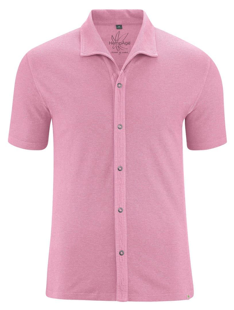 Camisa verano hombre color rosa