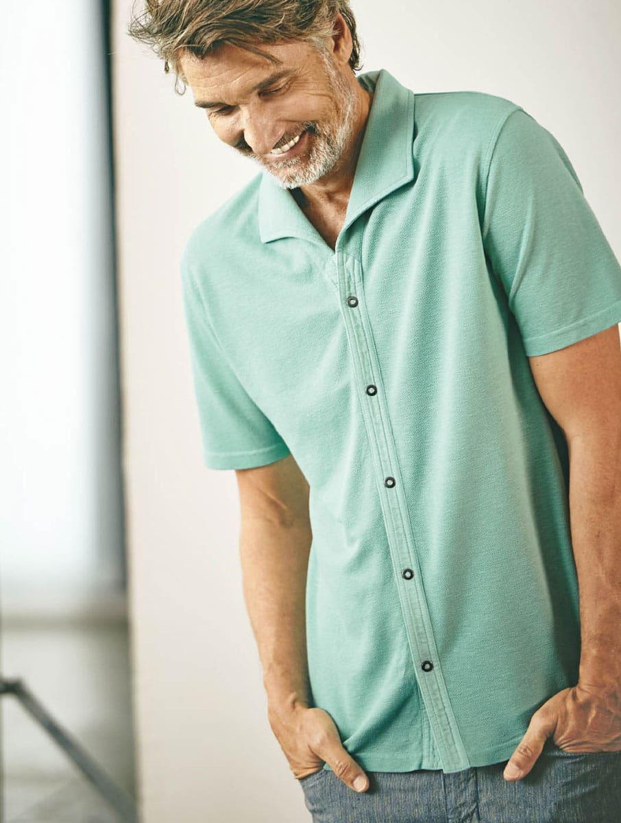 Camisa verano hombre ecológica verde