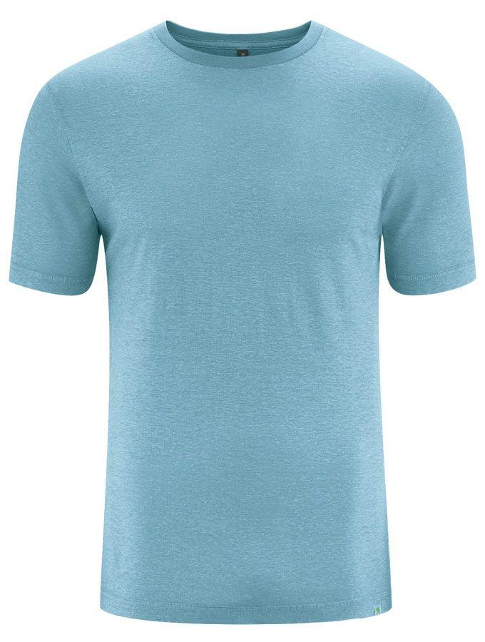 Camiseta básica algodón orgánico cáñamo azul