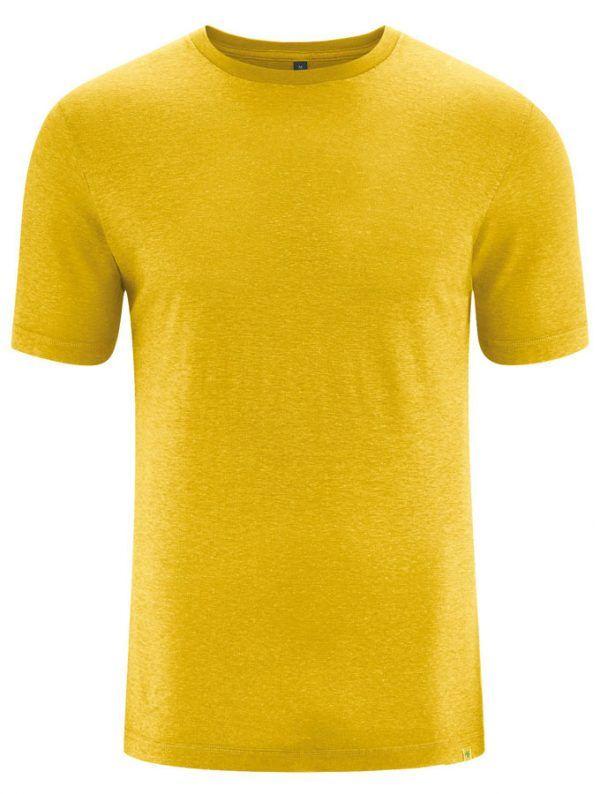 Camiseta básica algodón orgánico cáñamo mostaza