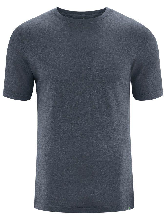 Camiseta básica algodón orgánico cáñamo negro