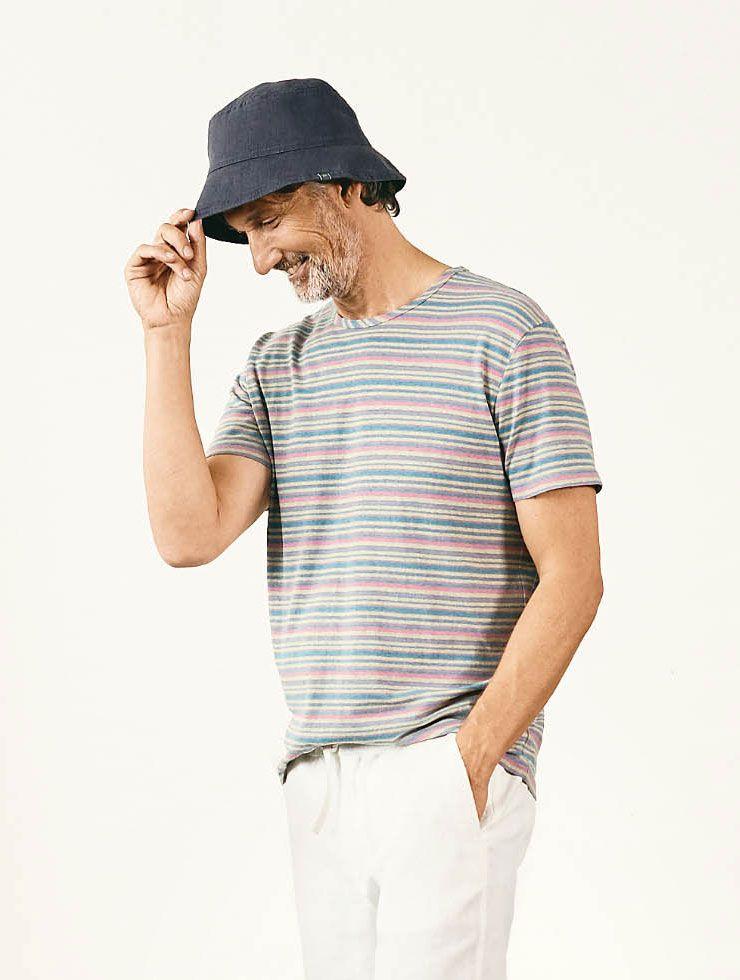 Camiseta de rayas de colores para hombre