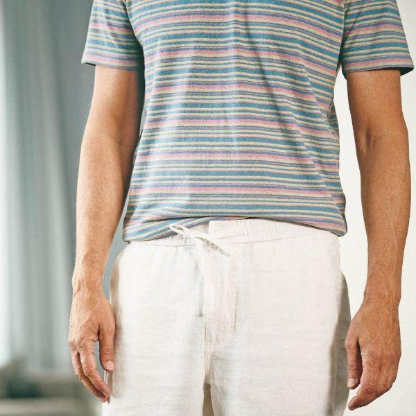 Camiseta rayas colores ecológica hombre