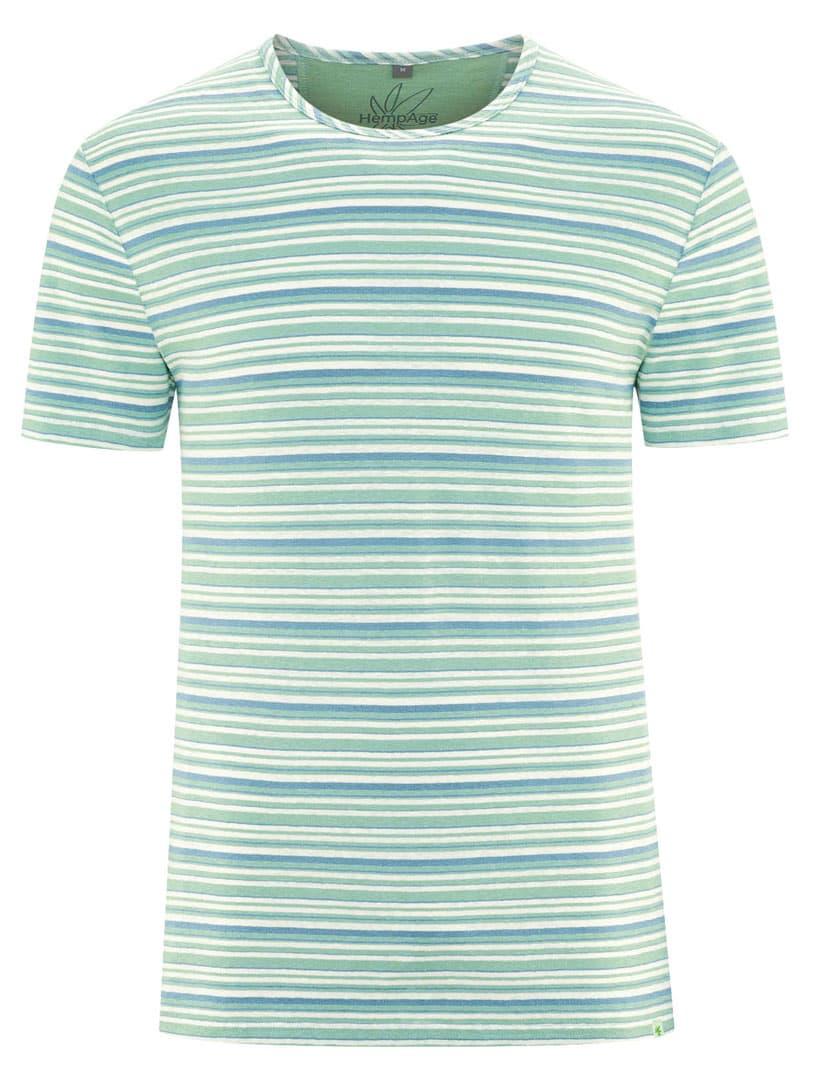 Camiseta rayas verde azul hombre