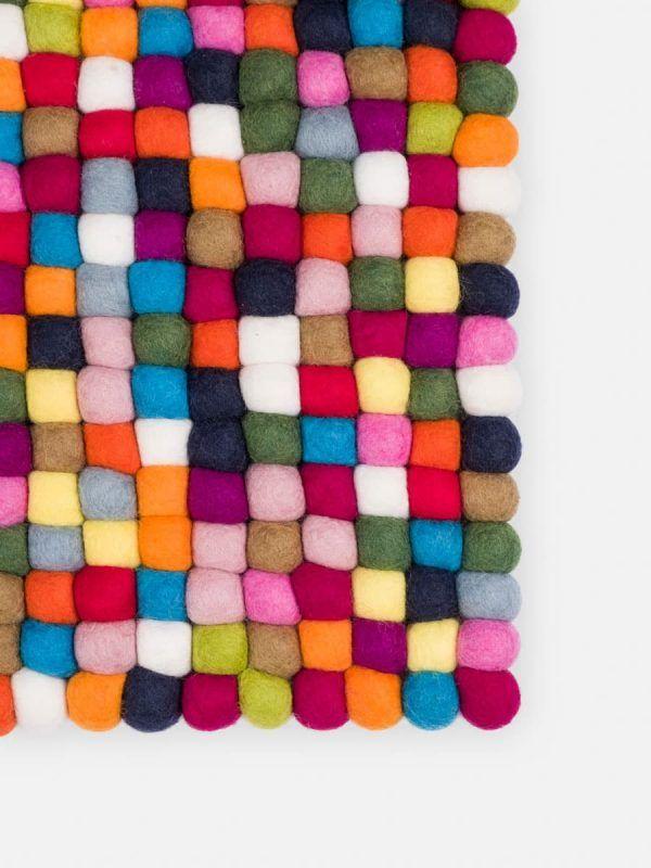 Detalle alfombra colores multicolor