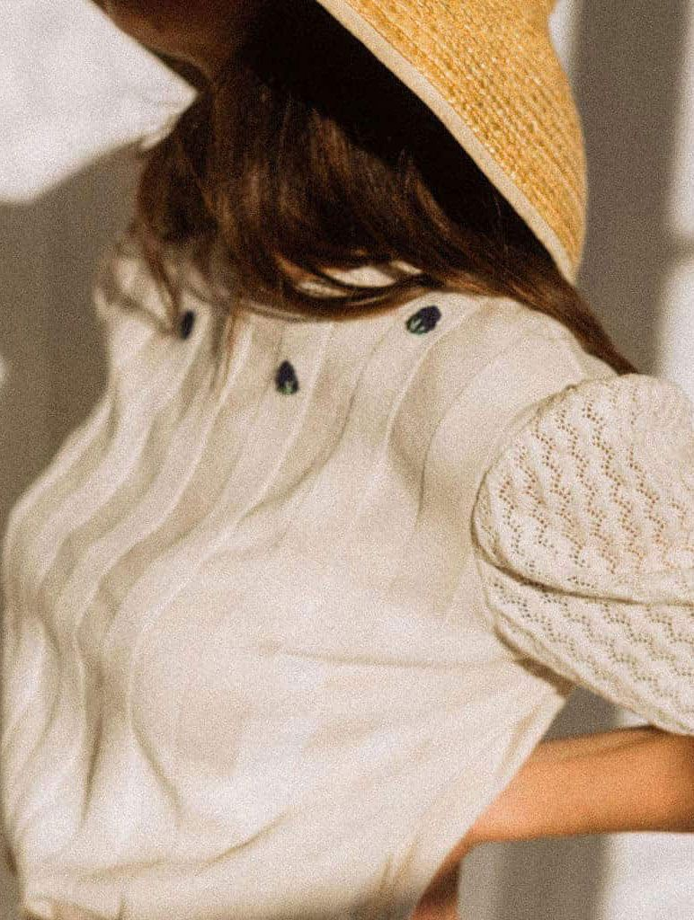Jersey sostenible manga abullonada para mujer