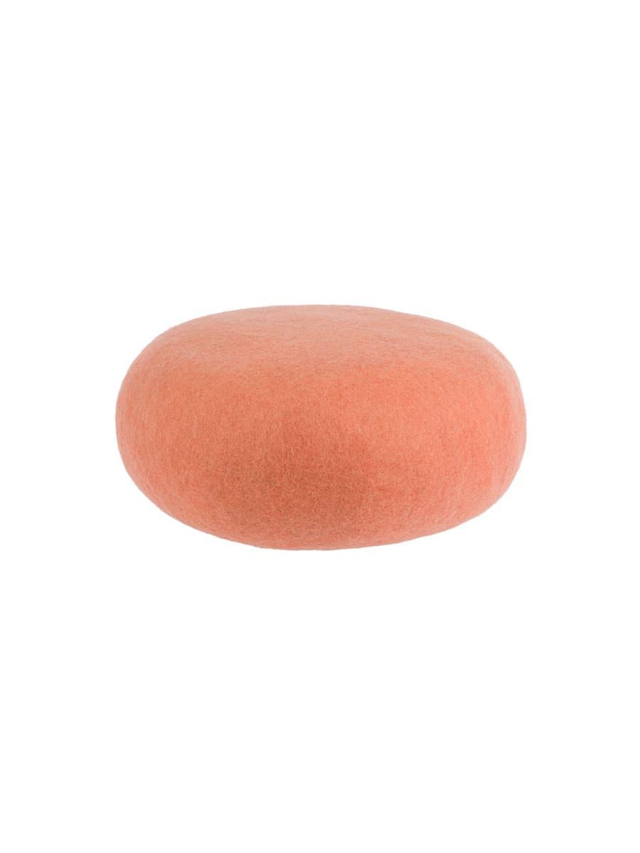 Pouf color salmón