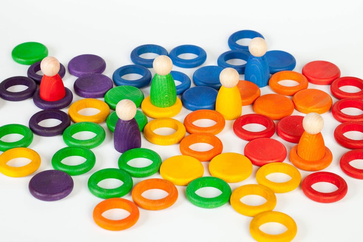 Set de Nins anillas y monedas