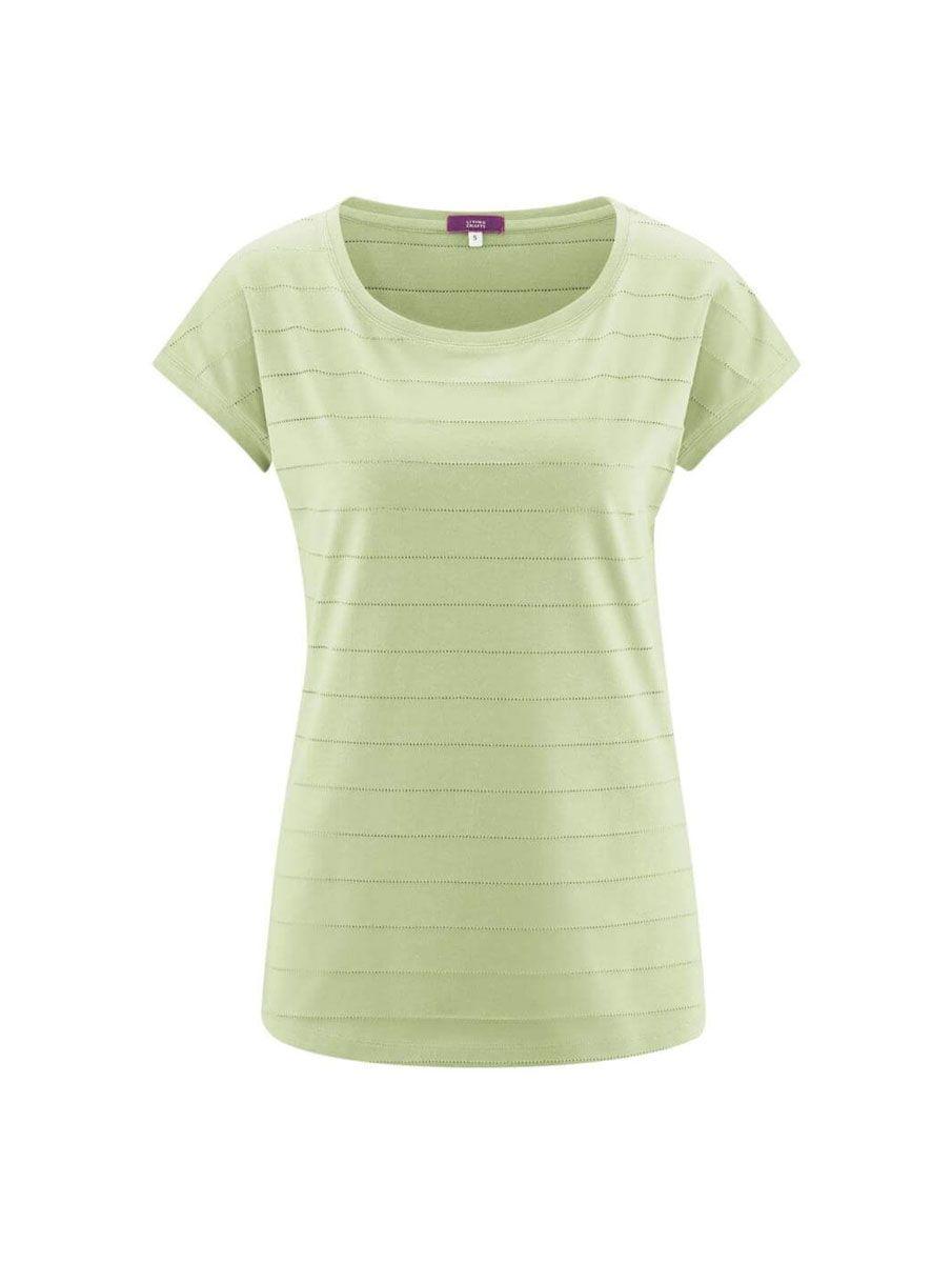 Camiseta pijama algodón orgánico mujer verde manga corta