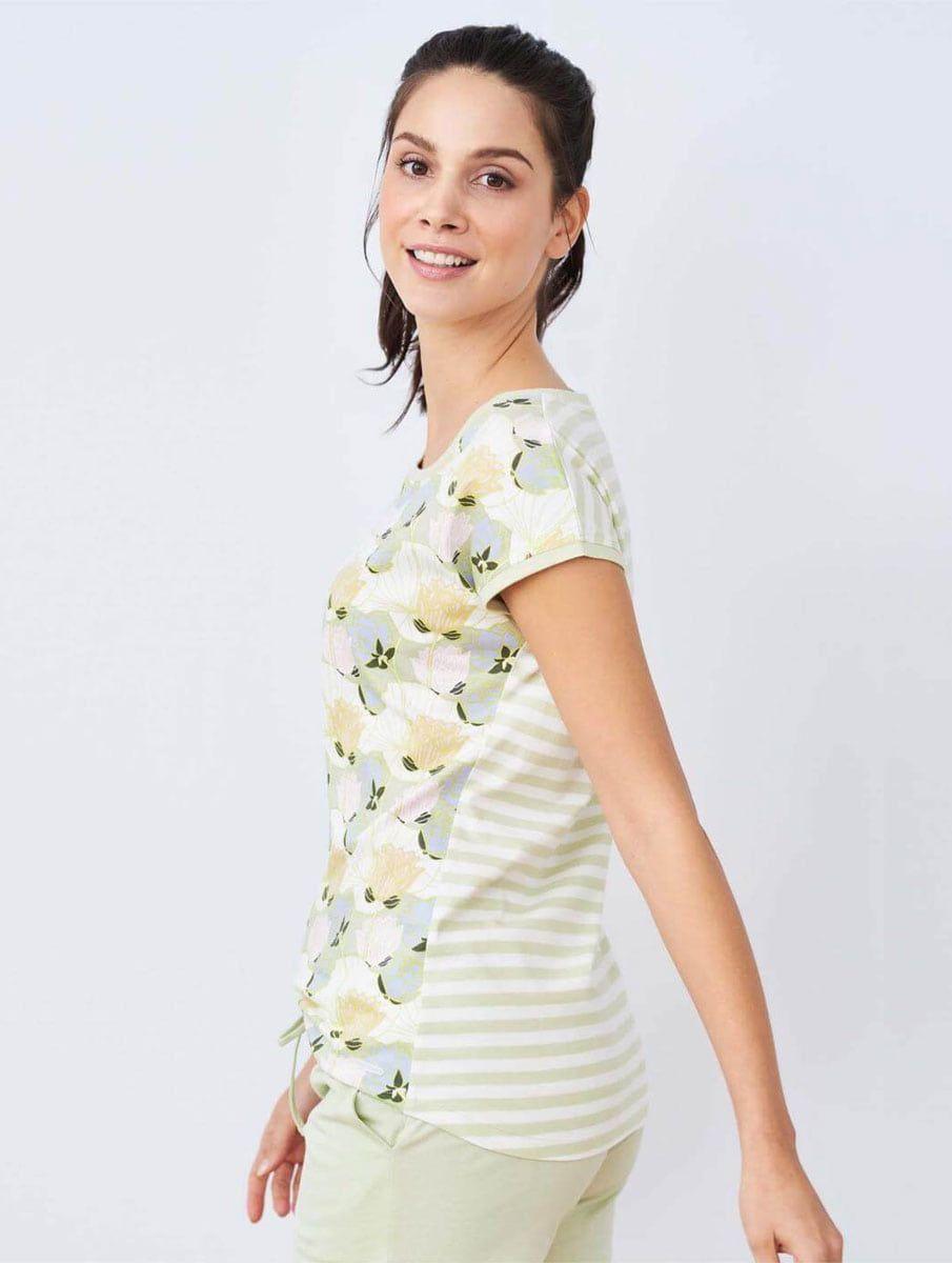 Camiseta pijama mujer 100% algodón orgánico flores