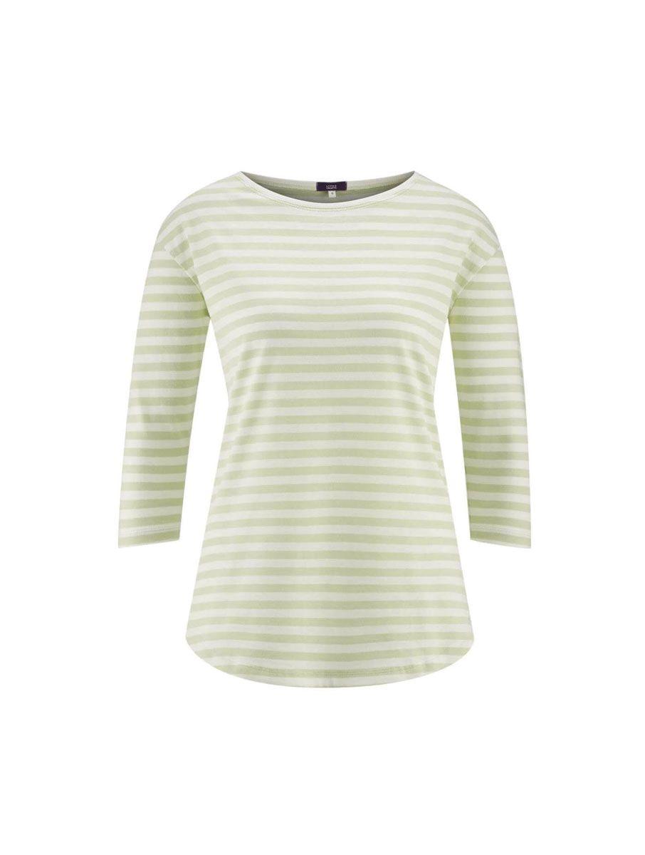 Camiseta pijama rayas mujer algodón orgánico