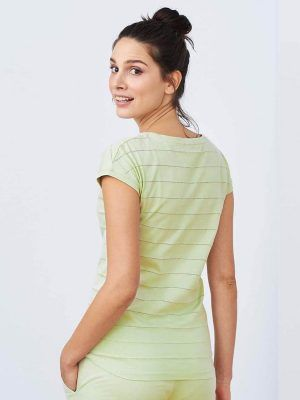 Espalda camiseta pijama algodón orgánico mujer verde
