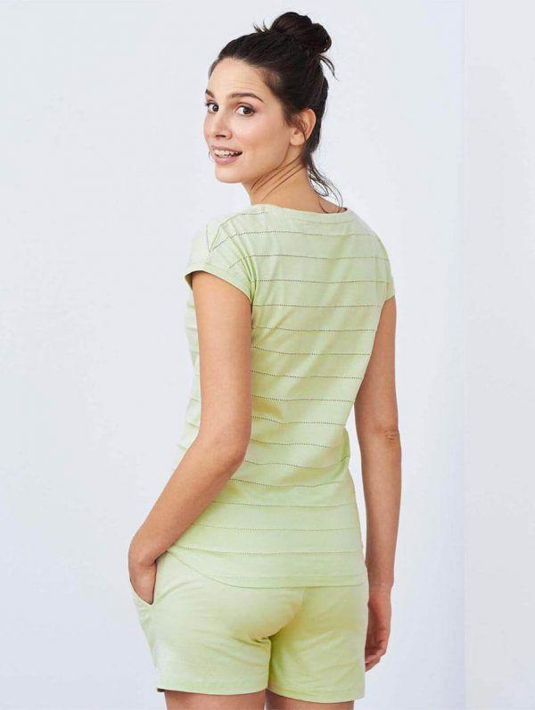Espalda pijama verano mujer algodón orgánico