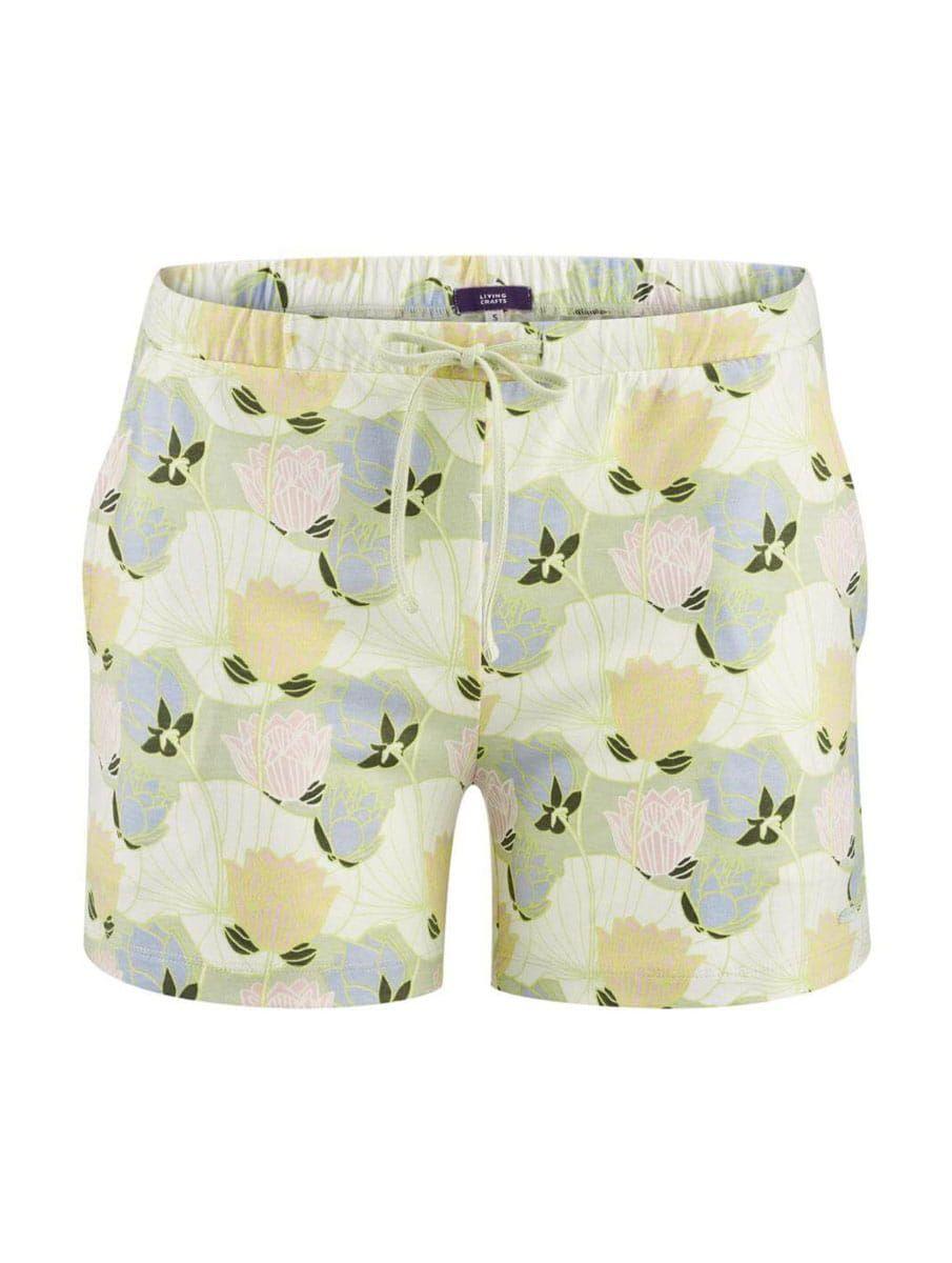 Pantalón corto pijama mujer con flores ecológico
