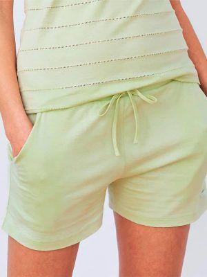 Pantalón pijama corto mujer 100 % algodón orgánico