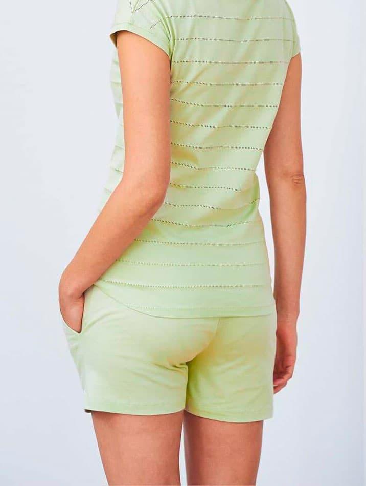 Parte trasera pantalón pijama corto mujer
