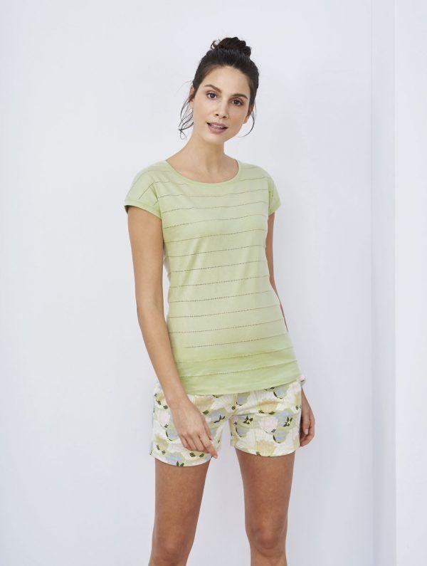 Pijama corto algodón orgánico mujer