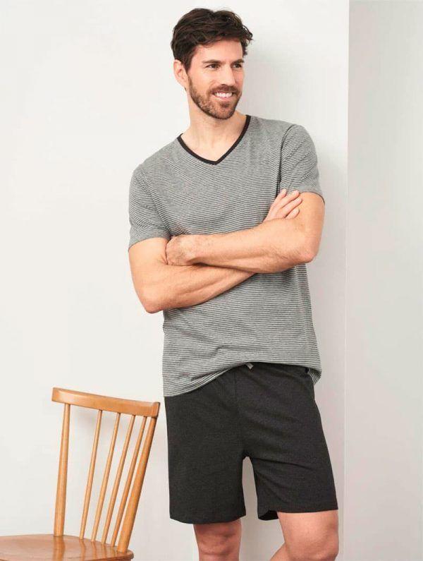 Pijama corto hombre 100% algodón orgánico