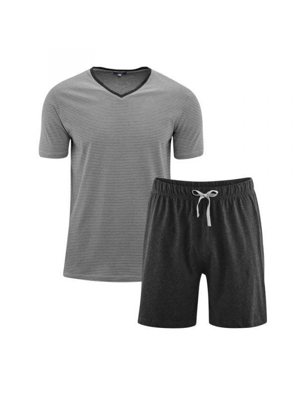Pijama corto hombre ecológico camiseta y pantalón