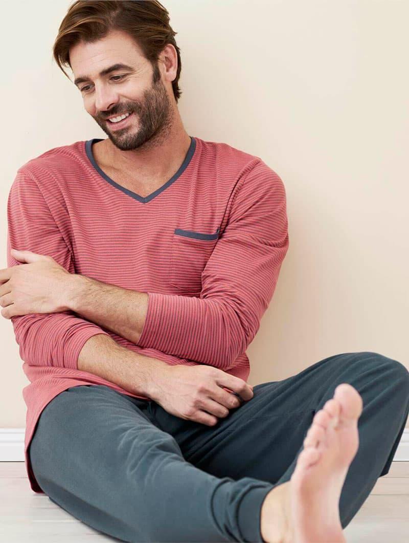 Pijama largo hombre 100% algodón orgánico