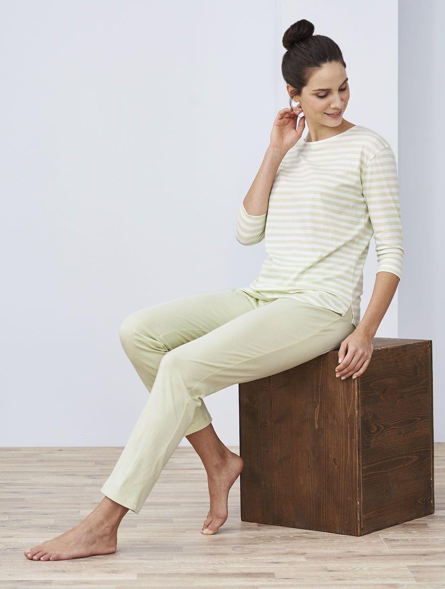 Pijama largo mujer 100% algodón orgánico