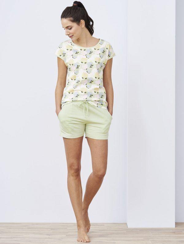 Pijama verano corto algodón orgánico mujer