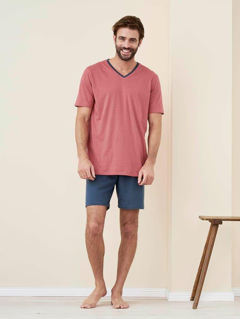 Pijama verano hombre 100% algodón orgánico