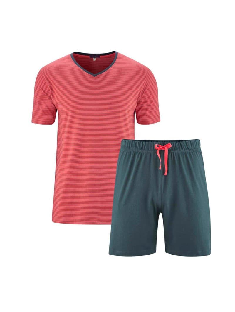 Pijama verano hombre ecológico camiseta y pantalón