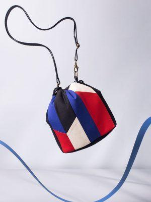 Bolso bombonera patchwork reciclado