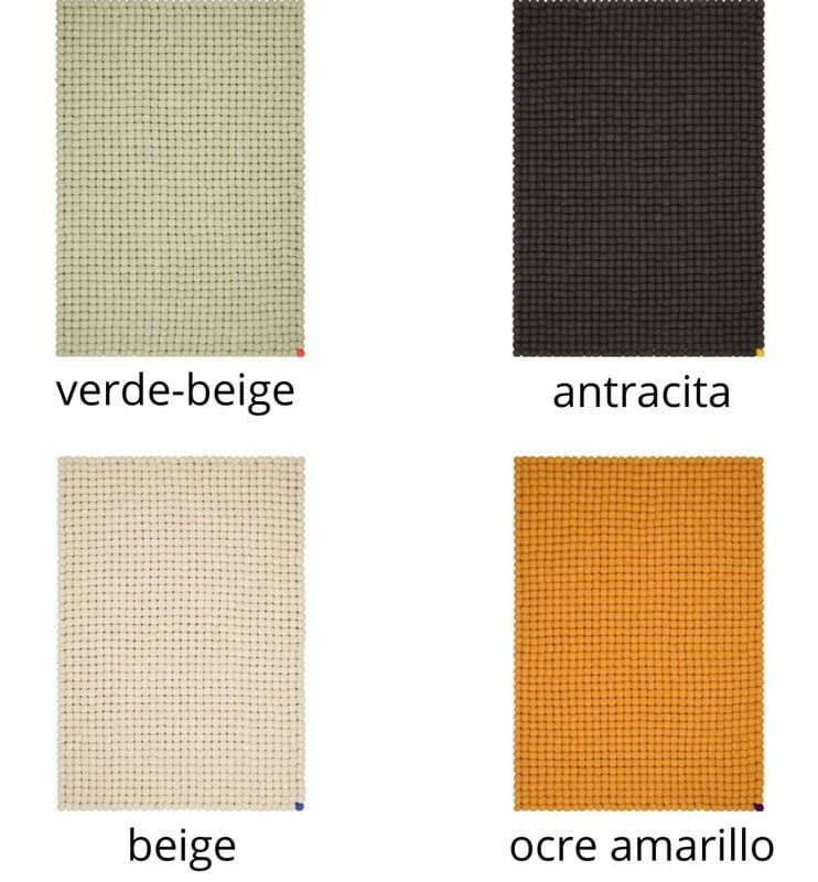 Colores alfombra salón punto rectangular
