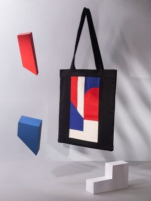 Tote bag tela diseño upcycling