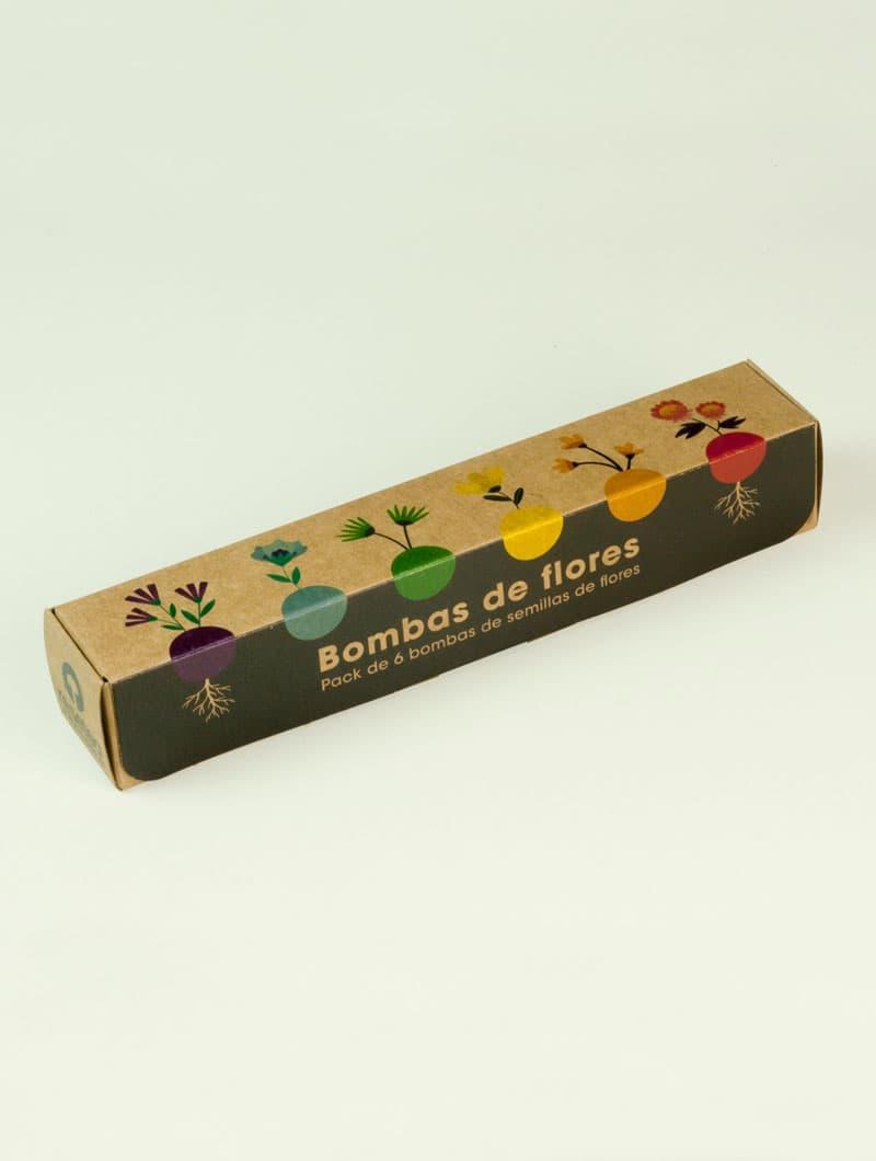 Caja de semillas de flores