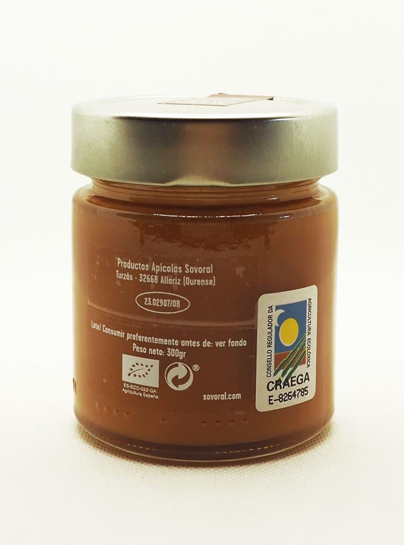 Frasco de miel cruda