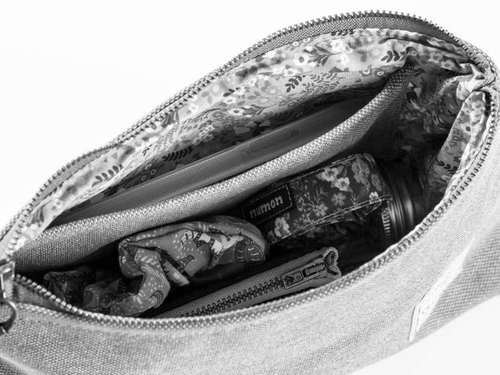Bolso mano reciclado con bolsillo interior Numon