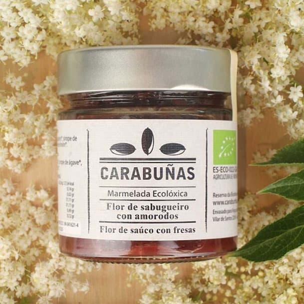 Mermelada de flor de saúco y fresas ecológica
