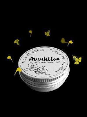 Bálsamo labial ecológico de flor de grelo y miel
