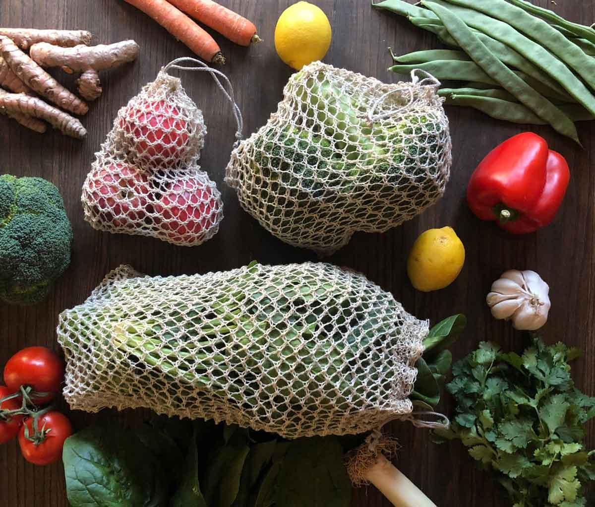 Bolsas reutilizables fruta ecológicas