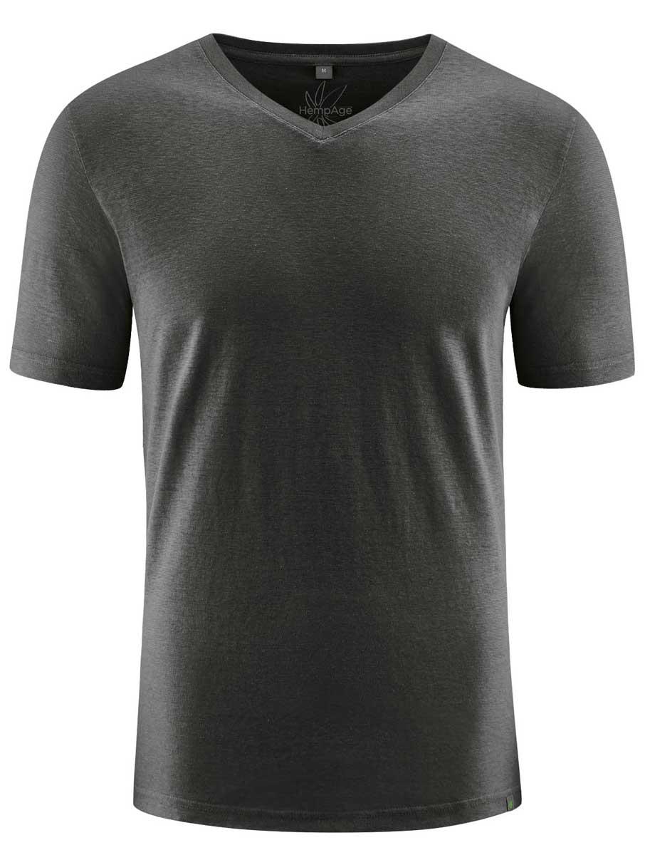 Camiseta cuello pico hombre ecológica negro