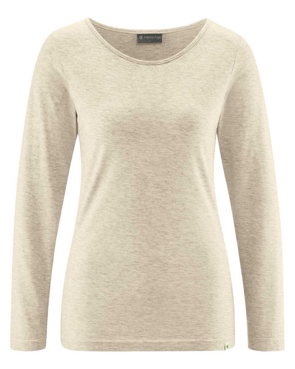 Camiseta mujer manga larga de algodón ecológico natural