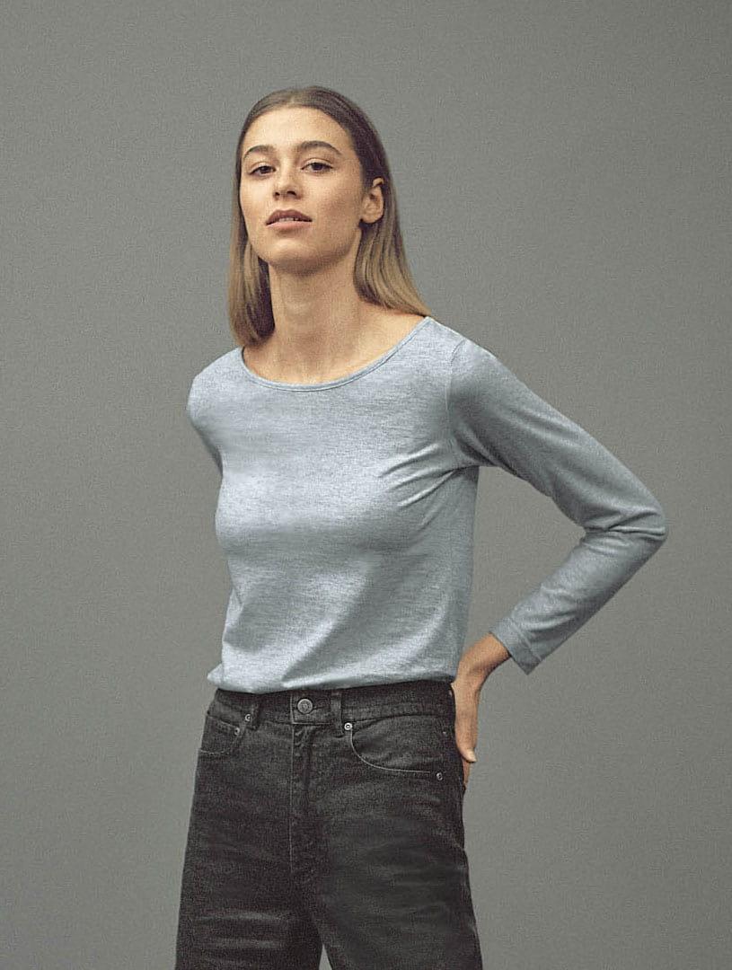 Camiseta mujer manga larga de algodón ecológico
