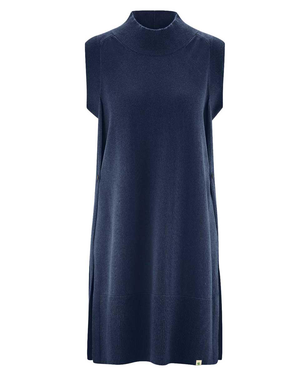 Chaleco largo mujer ecológico azul marino