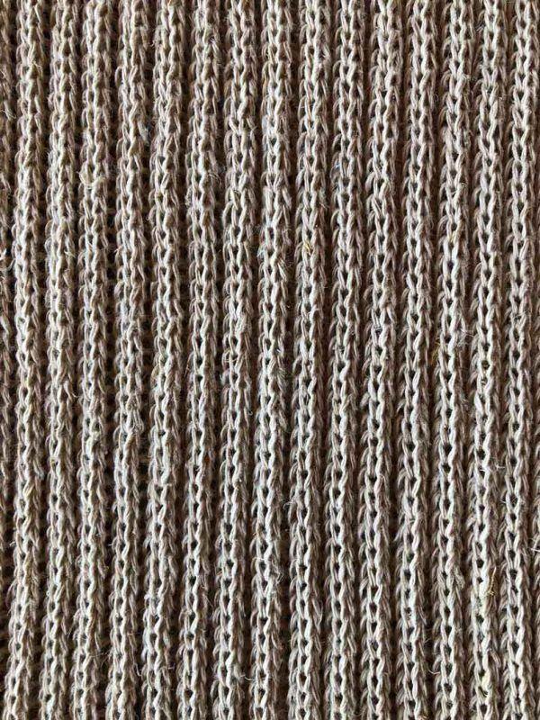 Detalle tejido cáñamo bayeta ecológica