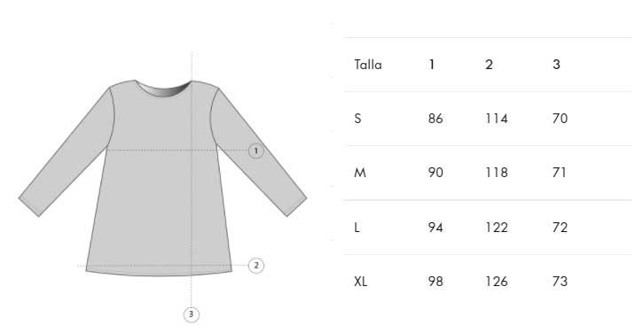 Guía de tallas camiseta aw21 tiralahilacha