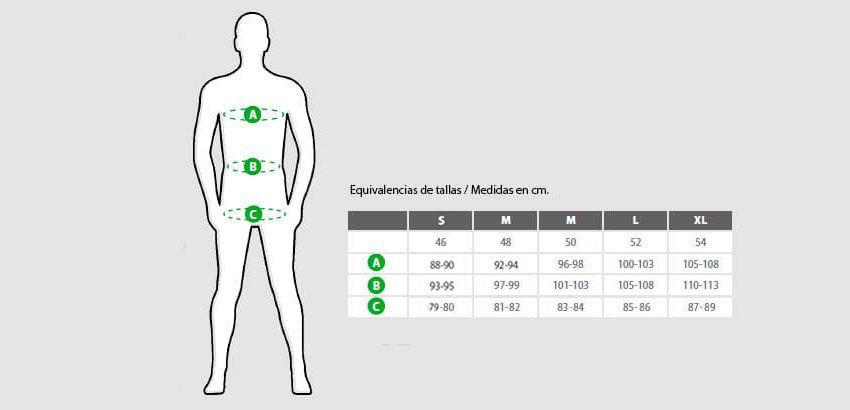 Guía de tallas pijamas hombre de Living Crafts