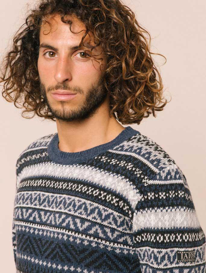 Jersey lana hombre jacquard